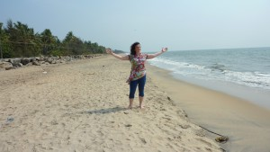 cherai beach with judy