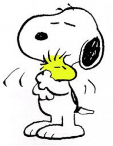 hug, snoopy, yoga, midline, judy, hirsh, headspace