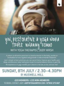restorative, yin, yoga nidra, judy, hirsh, sampath, therapy, nervous system